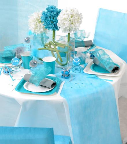 Chemin de Table 30cmx10m Turquoise