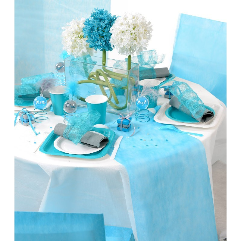 chemin de table 30cmx10m turquoise drag e d 39 amour. Black Bedroom Furniture Sets. Home Design Ideas