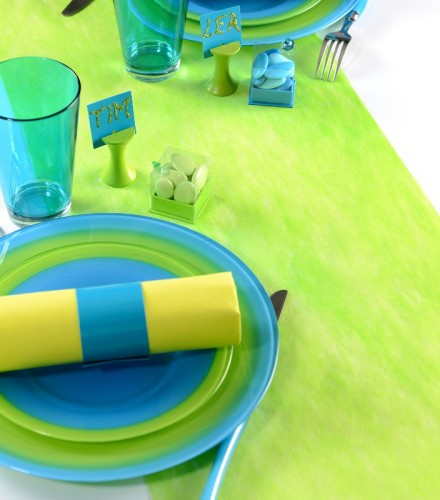 chemin de table 30cmx10m vert anis drag e d 39 amour. Black Bedroom Furniture Sets. Home Design Ideas