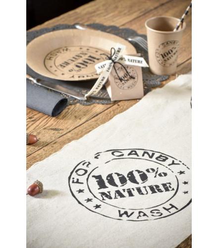 """Chemin de Table Coton """"100 % Nature"""""""