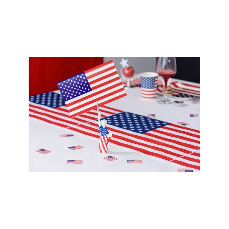 Chemin de table jetable drapeau am ricain usa en tissu drag e d 39 amour - Chemin de table en papier jetable ...