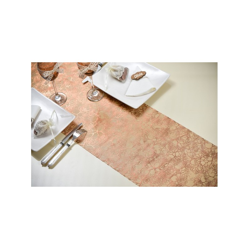 Chemin de table jetable color v g tation en organdi chic drag e d 39 amour - Chemin de table en papier jetable ...