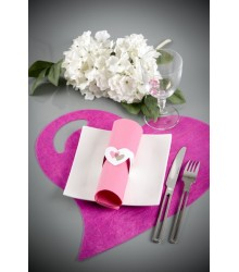Set de table coeur fanon