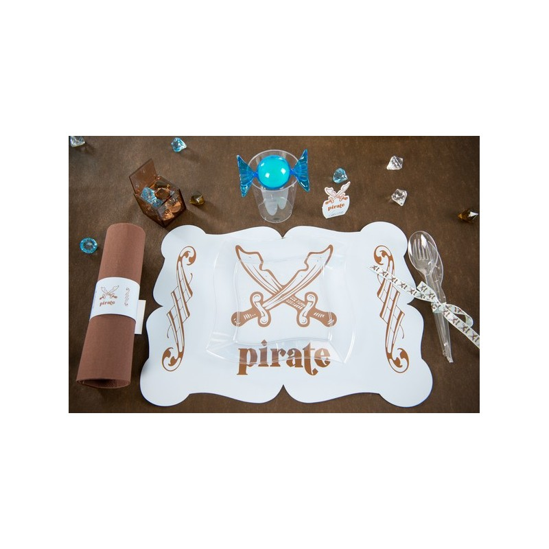 6 sets de table pirate originaux en carton blanc drag e d 39 amour. Black Bedroom Furniture Sets. Home Design Ideas
