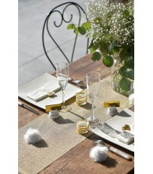 Chemin de table polylin lurex