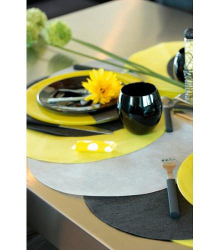 50 sets de table colorés en tissu ronds