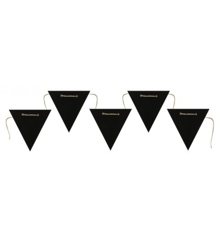 Banderole 5 fanions triangle en ardoise