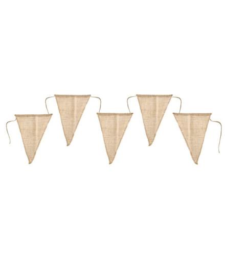 Banderole triangle en jute