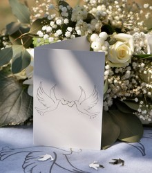 Cartes colombes pour mariage