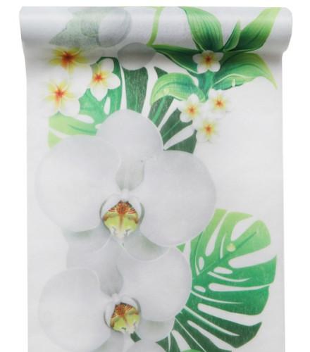 Chemin de table jetable mariage imprimé orchidées en tissu