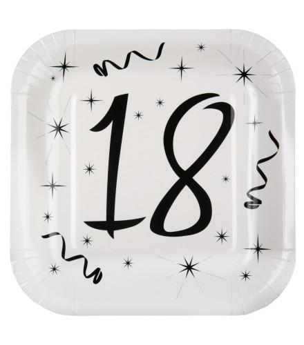 assiettes anniversaire noir et blanc avec ge drag e d 39 amour. Black Bedroom Furniture Sets. Home Design Ideas