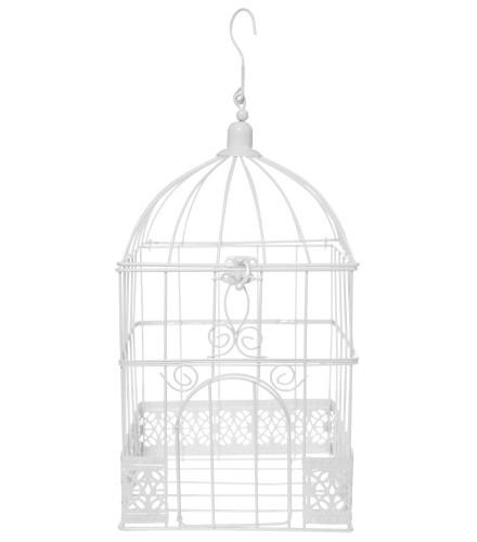 Cage carrée déco blanche