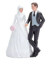 Figurine couple marié musulman