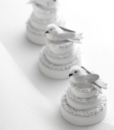 Oiseaux pailletés de fête sur pince