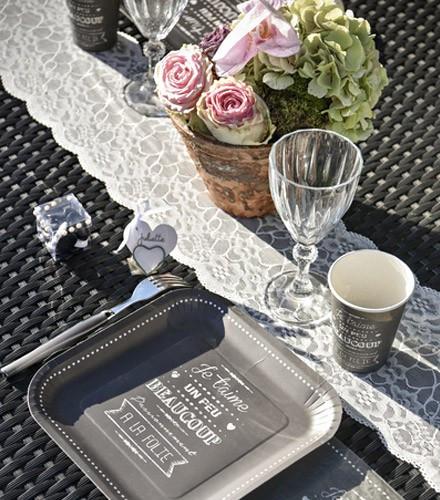 Chemin de table discount dentelle fleurie