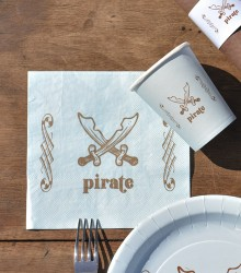 Serviettes de table originales pirate
