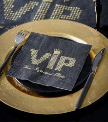 Serviettes de table chics VIP