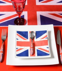 Serviettes de table tendances angleterre