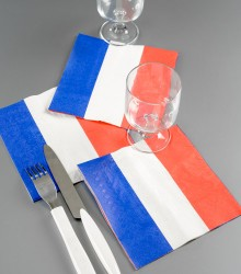 Serviettes de table célébration france