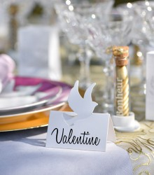 Marque-places mariage colombes