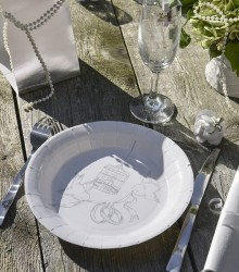 Assiettes de table mariage alliances