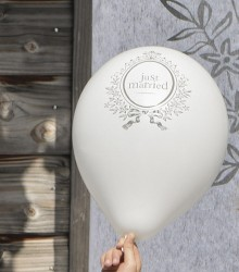Ballons gonflables de mariage just married
