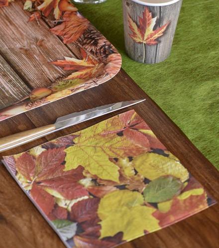 Serviettes de table tendances automne drag e d 39 amour - Serviette de table jetable ...