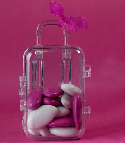 10 contenants à dragées valise ( soit 1,15 € la pièce)
