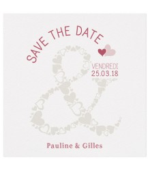 "Save the date chic ""&"" en coeur"