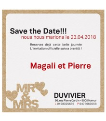 Save the date tendance Mr & Mrs