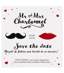 Save the date chic Mr & Mrs