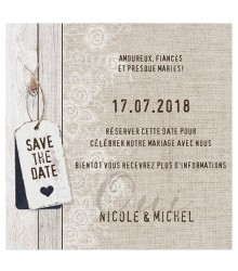 Save the date vintage style bois