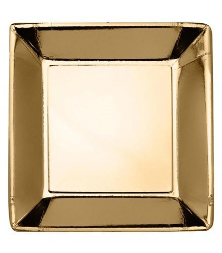 Assiette en carton pas chère or ou argent