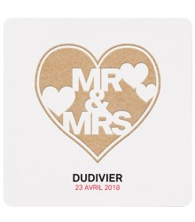 Faire-part de mariage Mr & Mrs