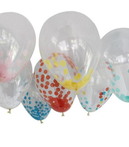 Ballon confettis pour mariage