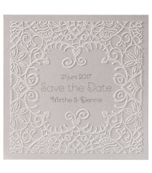 Save the date chic arabesques en relief