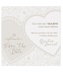 Save the date chic coeurs chaines