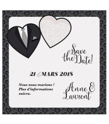 Save the date pas cher robe et smoking