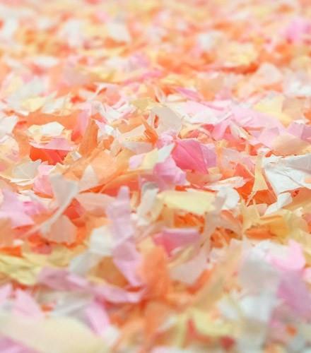 Sachet de confettis 50 g pas cher nude