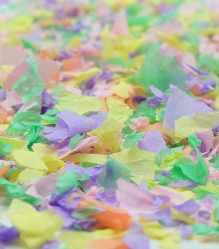 Sachet de confettis 50 g tendance pastel