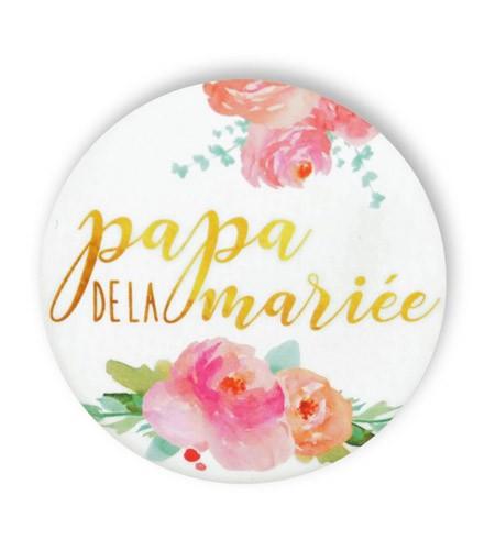 Badge champêtre papa de la mariée