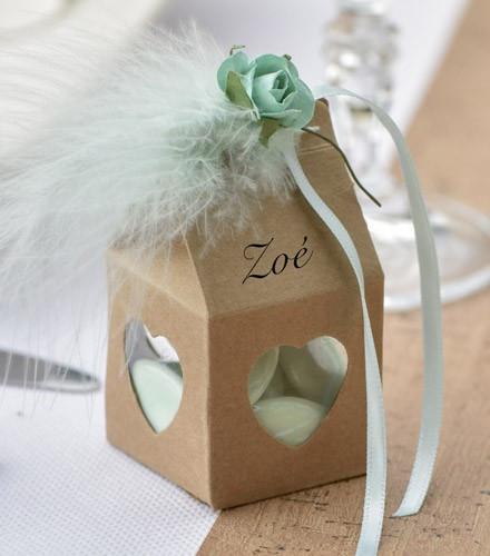Boîtes à dragées mariage ajourées coeur