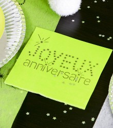 Serviette de Table Anniversaire