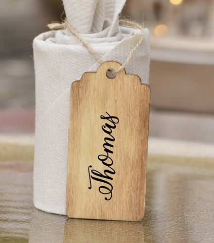 Marque-places pas chers en bois rectangulaire