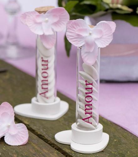 Orchidées en tissu pour fête
