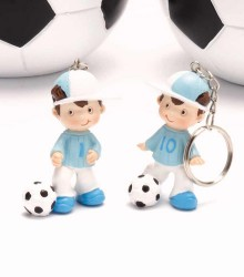 Lot de 2 porte-clés footballer