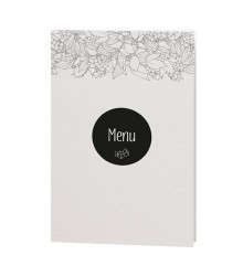 Menu design élégant ornement floral