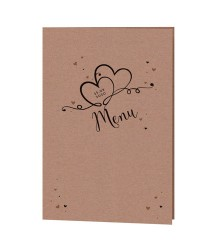 Carte de menu romantique Love Story