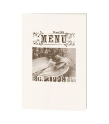Carte de menu photo vintage