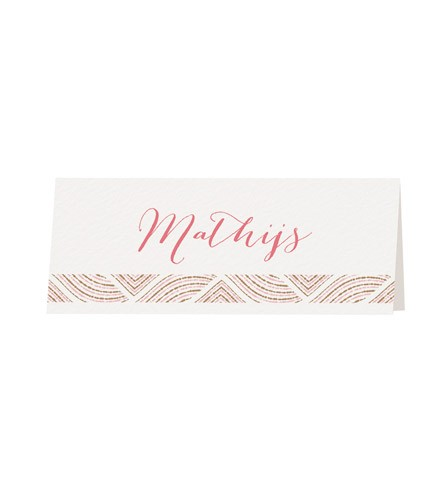 Marque-place chic motifs or